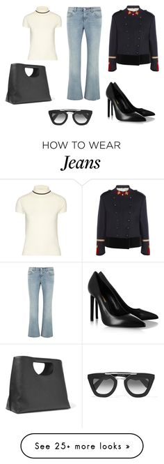 """Sin título #5692"" by ceciliaamuedo on Polyvore featuring Gucci, Totême, Yves Saint Laurent, Tom Ford and Prada"