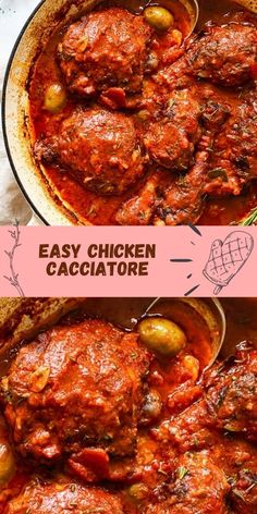 This Chicken Cacciatore is a recipe you need to have in your repertoire! Crispy on the outside chicken legs and thighs are simmered in a savoury tomato sauce with rosemary and garlic. This magic dish will leave you so impressed and happy!