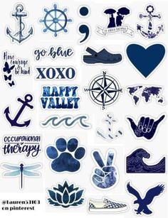 Navy Blue Sticker Pack,Navy blue stickers navy blue sticker pack dark blue navy aqua black dark ocean shoes american eagle sea ocean anchor semicolin peace sign xoxo blue re. Tumblr Stickers, Phone Stickers, Journal Stickers, Planner Stickers, Homemade Stickers, Diy Stickers, Printable Stickers, Free Printable, Vintage Sticker
