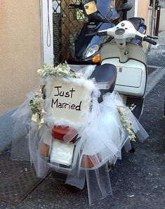 Where is the bride?:o Vespa PX Just Married, by Maurizio Molinari