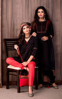 #red #black #rabari #women #fashion #crafts #boho #kurta #tunic #prints…