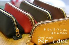 PORCO ROSSO | Rakuten Global Market: Vegetable tanning leather pen case made by japanese craftman[sokunou]【Stationary】