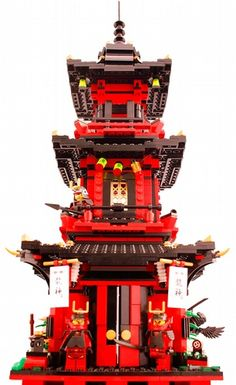 The Kofuku-ji Shinto Shrine - Lego Samurai Ninjago Pagoda Castle: A LEGO® creation by LJ Ninja : MOCpages.com