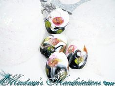 4 Oval Lampwork Beads w/ Millefiori accent 26x20x8.5mm. Starting at $4 on Tophatter.com!