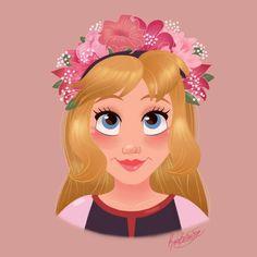 Elionwy with a flower crown