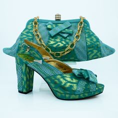 68.00$  Watch here - http://alis24.worldwells.pw/go.php?t=32774356702 - Aqua italian shoes and bags for women african shoes with matching hand bags for party CP63008