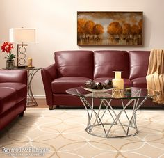 """Looking for a space that says """"Fall,"""" but don't want it to be too overwhelming? The piece of artwork you choose can serve as that autumn look, giving you the option to update the look for winter, spring and summer. Just replace the artwork by season!"""