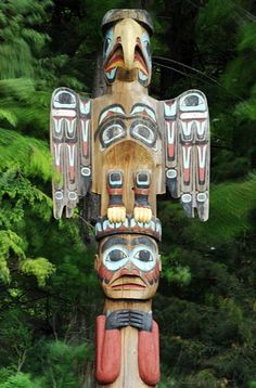 Native American Totem Pole - eagle