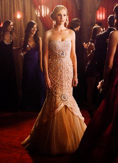Caroline Forbes ...her prom dress is gorgeous~ thanks Klaus!!!!