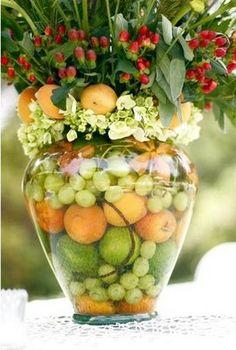 #summer #wedding citrus centerpieces
