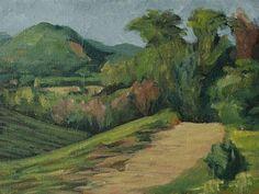 """Wine Ridge"" - Original Fine Art for Sale - © Gringo Zero"