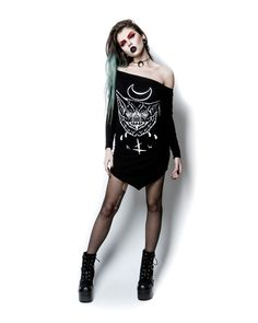 The Rogue + The Wolf Blood Sucker Dress Bat Moon Gothic Witchy   | eBay