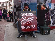 Hey ! T'as vu ma belle pancarte de mendiant ? #homeless #typography #tumblr