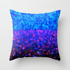 BlueBerry Passion Fruit Throw Pillow by Saundra Myles - $20.00
