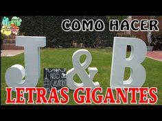 Cómo hacer letras en 3D Gigantes / DIY / Arte con Diego - YouTube Dj Setup, Dj Equipment, Quinceanera Party, Ideas Para Fiestas, Tight Budget, Lighting System, Diy Party Decorations, Mailbox, Gardens