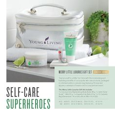 Treat yourself to a little 'me' time with the moisturising and hydrating benefits of our popular skin care products, packaged in a limited-edition cosmetic bag featuring YL branded zippers, a waterproof interior and a compartment insert.The Merry Little Luxuries Gift Set includes:1 x Coconut Lime Replenishing Body Butter 80 g1 x Satin Facial Scrub™️ - Mint 57 g1 x Grapefruit Lip Balm 4.5 g1 x YL Cosmetic Bag (Dimensions: 16 cm (H) x 28 cm (W) x 15 cm (D))