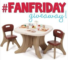 Enter to win a Step2 New Traditions Table & Chairs Set for the FanFriday Giveaway