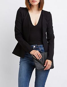 Women's Outerwear: Blazers, Jackets & Vests| Charlotte Russe