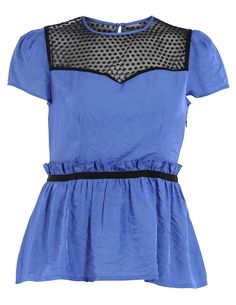 Polka dot shirt in Saphire-Blue / Black designed by Manon Baptiste to find in Category Shirts & Blouses at navabi.de