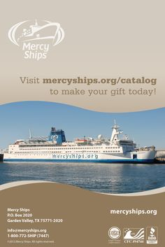 Give the gift of mercy today! http://store.mercyships.org/