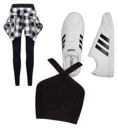 """""""Untitled #870"""" by fashionsparkles11 on Polyvore featuring adidas and BCBGMAXAZRIA"""