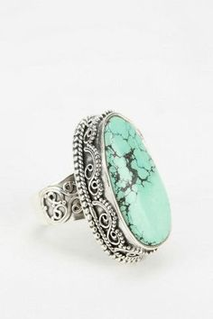Adorn By Sarah Lewis Turquoise Filigree Ring | Urban Outfitters