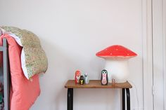 Children's room - Mushroom lamp - Via A Home Paper