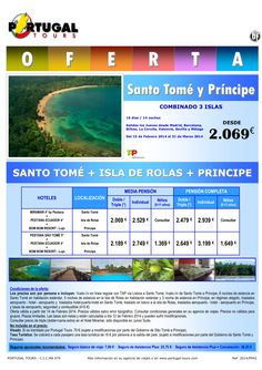 Combinado Santo Tomé+Isla Rolas+Príncipe 15 Febrero-31 Marzo 16d/14n salida península desde 2.069 € ultimo minuto - http://zocotours.com/combinado-santo-tomeisla-rolasprincipe-15-febrero-31-marzo-16d14n-salida-peninsula-desde-2-069-e-ultimo-minuto/