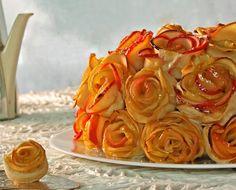 25 begeisternde Tortenrezepte aus dem LV Verlag und hier findet ihr das Apfel-Rosen-Quitten Torten Rezept.
