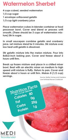 Healthy summer treat! Watermelon Sherbet  #weightloss #summer