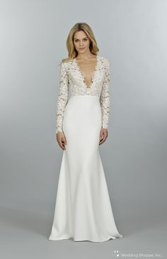 Tara Keely Bridal Gown TK2450 Silk and Lace long sleeved wedding dress. - OMG this is gorgeous!!!
