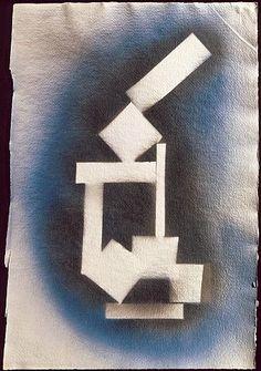 DAVID SMITH, Untitled, 1963, Spray enamel on paper, 20 x 13-3/4 inches (50.8 x 34.9 cm)