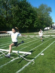 Junior School hurdles at Sports Day