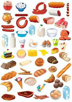 Belacam - Earn Crypto Through Social Media Food Clipart, Food Pyramid, Felt Food, Food Drawing, Play Food, Food Illustrations, Cute Food, Preschool Activities, Food Art