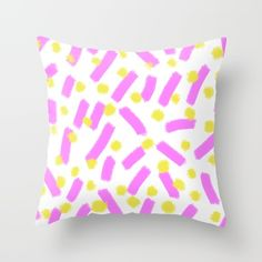 Buy Purple Strokes & Dots - Brightly Spring Throw Pillow by Allyson Johnson. Worldwide shipping available at Society6.com. Just one of millions of high quality products available.