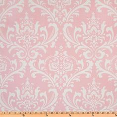 Pink Damask Fabric by the Yard home decor Premier Prints Ozborne Bella Pink Twill yardage  - 1 yard or more - SHIPS FAST