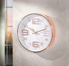 AuBergewohnlich Moderne Design Klok Wit Koper 30 Cm || Ru0026D || Moderne Witte Klokken Keuze