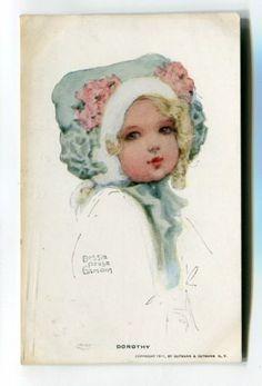 "Bessie Pease Gutmann, Illustrator, ""Dorothy"", circa 1911."