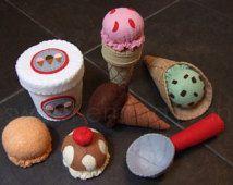 Felt Play Food Pattern - Ice Cream Set PDF - DIY Felt Food
