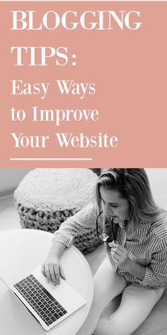 Quick ways to improve your website! #blog #blogging #bloggingtips #websitetips Blogging Ideas, Make Money Blogging, Blog Love, Seo Tips, Social Media Tips, Helpful Tips, How To Start A Blog, Improve Yourself, Posts