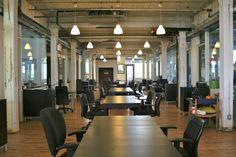Loft style interior w/pendant lights