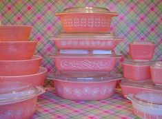Pink Pyrex-love this!!