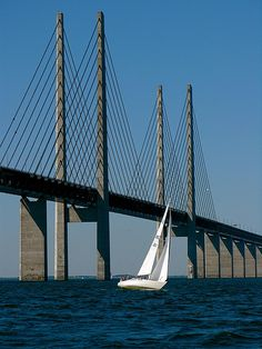 Øresund Bridge, Scania (southernmost Sweden) and Denmark. Our tips for 25 fun things to do in Sweden: http://www.europealacarte.co.uk/blog/2011/10/13/what-to-do-in-sweden/