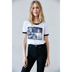 Dazed And Confused Cool Tee ($39) ❤ liked on Polyvore featuring tops, t-shirts, white, pattern tops, print tees, print t shirts, relaxed fit tops and relax t shirt