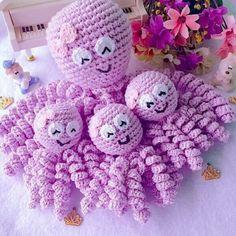 Amigurumi Do Zero Crochet Car, Cute Crochet, Baby Blanket Crochet, Crochet For Kids, Crochet Dolls, Amigurumi Patterns, Amigurumi Doll, Crochet Patterns, Octopus Crochet Pattern
