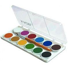 Kis gombos vízfesték készlet 12 darabos, ecsettel - Adel 921 - Akvarell festék - 399 - Vízfesték - Vízfesték készlet - Akvarell festék