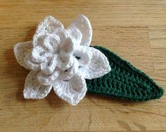 Gardenia Flower and Leaf ~ free pattern