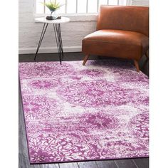 Unique Loom Grand Sofia Area Rug - x (Purple) Purple Area Rugs, Beige Area Rugs, Shed Colours, Colors, 8x10 Area Rugs, Traditional Area Rugs, Buy Rugs, Material Design, Online Home Decor Stores