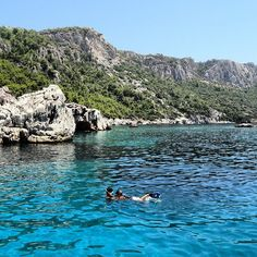Swimming in the waters of the Turkish coast