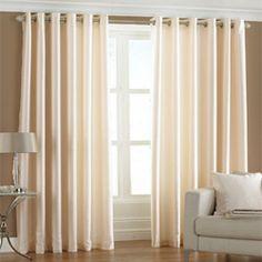 Faux silk cream curtain